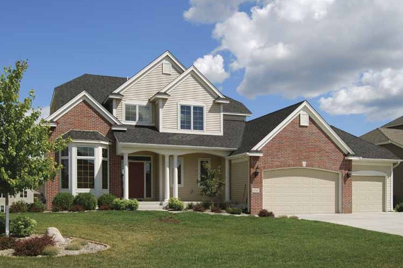 Country Exterior - Front Elevation Plan #320-999
