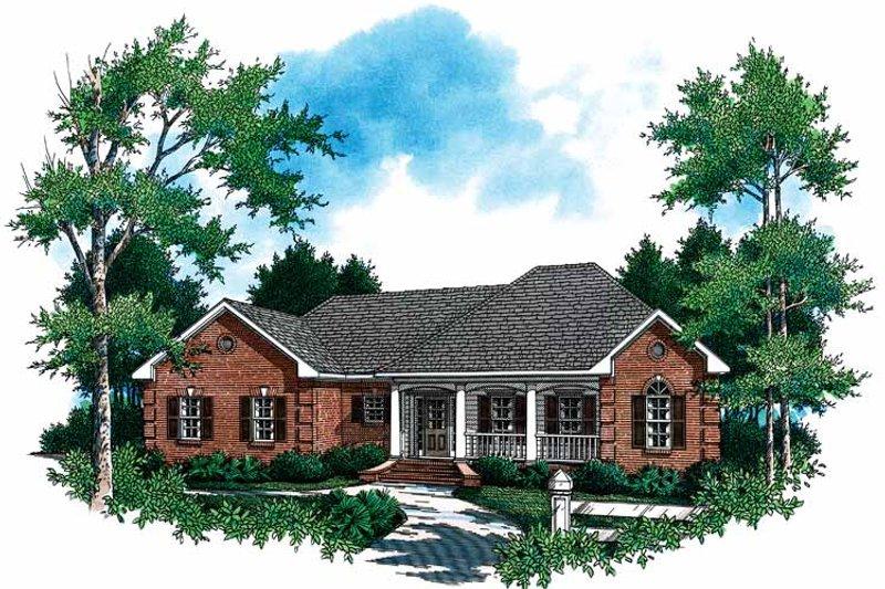 Contemporary Exterior - Front Elevation Plan #21-408 - Houseplans.com