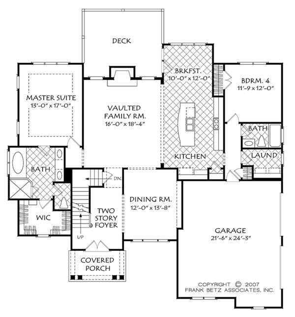 Colonial Floor Plan - Main Floor Plan #927-976