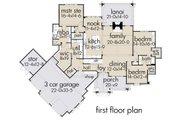 Cottage Style House Plan - 3 Beds 2.5 Baths 2662 Sq/Ft Plan #120-252 Floor Plan - Main Floor