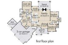 Cottage Floor Plan - Main Floor Plan Plan #120-252