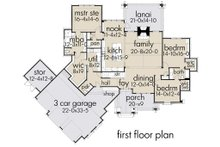 Cottage Floor Plan - Main Floor Plan Plan #120-252