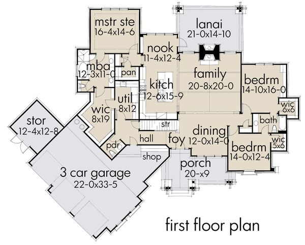Cottage Floor Plan - Main Floor Plan #120-252
