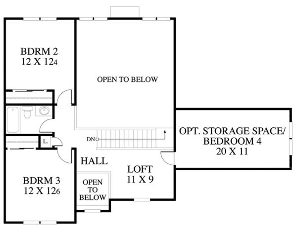 Country Floor Plan - Upper Floor Plan Plan #1053-60