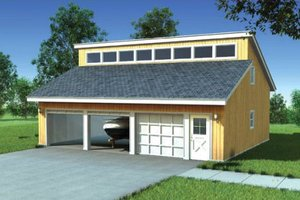 Contemporary Exterior - Front Elevation Plan #312-744