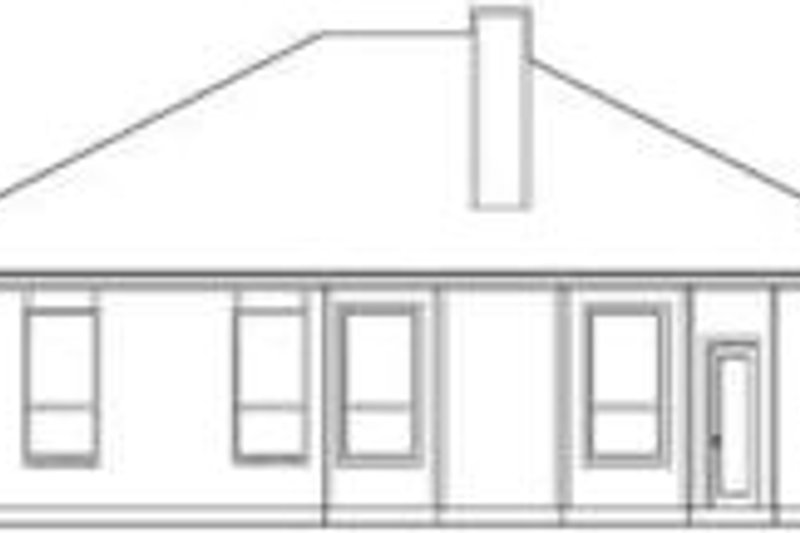 Traditional Exterior - Rear Elevation Plan #84-176 - Houseplans.com
