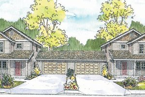 Craftsman Exterior - Front Elevation Plan #124-811