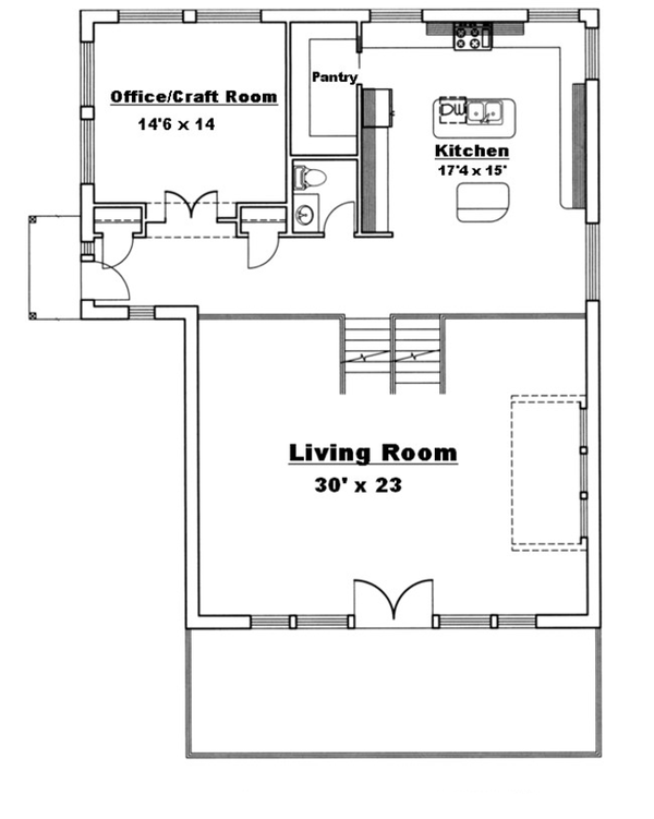Architectural House Design - Floor Plan - Main Floor Plan #117-829