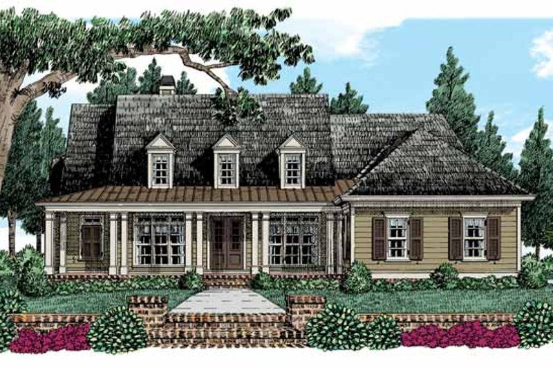 Colonial Exterior - Front Elevation Plan #927-528