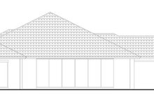Home Plan - Mediterranean Exterior - Rear Elevation Plan #930-448