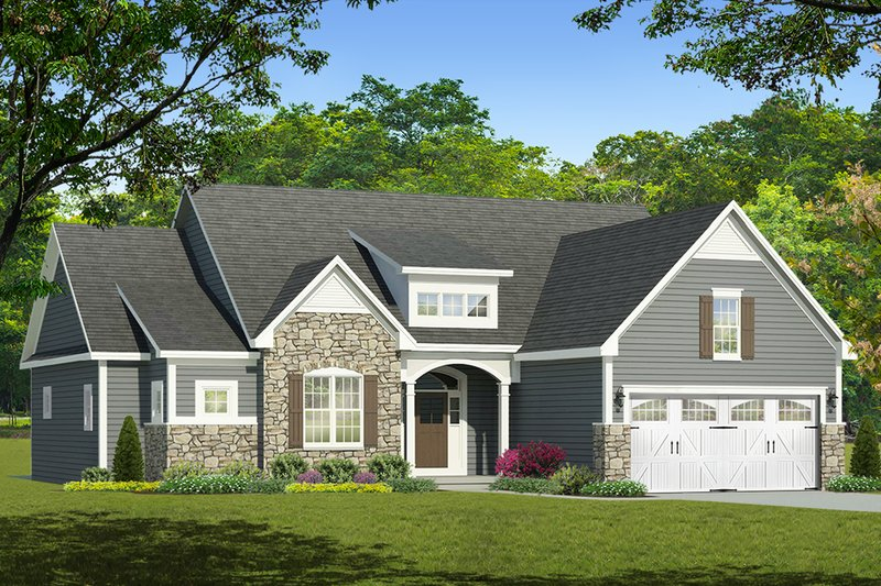 Ranch Exterior - Front Elevation Plan #1010-207