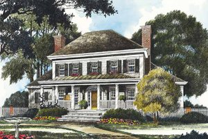 Country Exterior - Front Elevation Plan #429-356