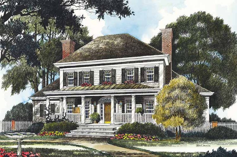 Home Plan - Country Exterior - Front Elevation Plan #429-356