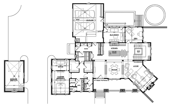 House Plan Design - Craftsman Floor Plan - Main Floor Plan #928-295