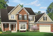 Home Plan - Colonial Exterior - Front Elevation Plan #1010-157