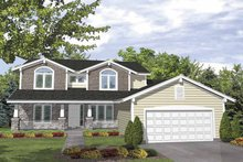 Architectural House Design - Country Exterior - Front Elevation Plan #320-836