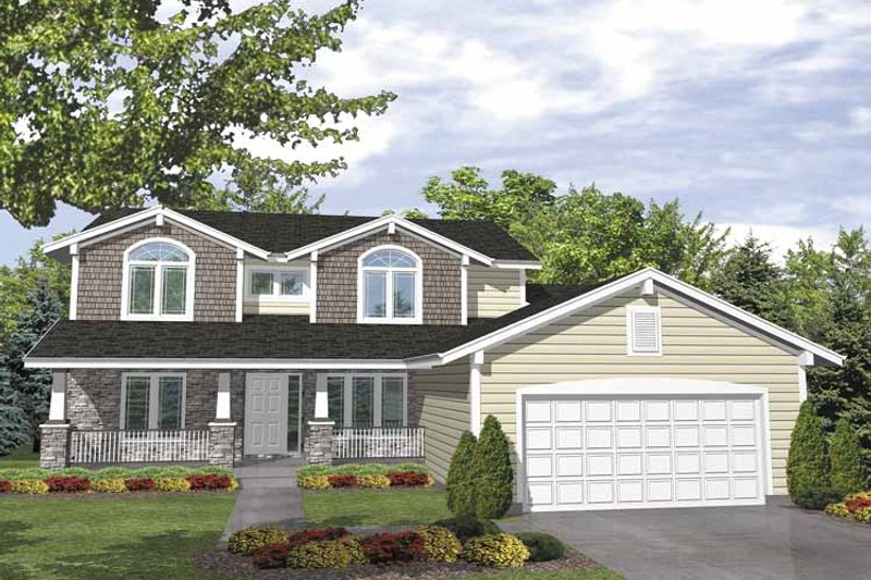 Country Exterior - Front Elevation Plan #320-836
