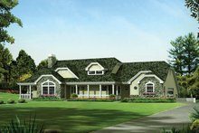 House Plan Design - Country Exterior - Front Elevation Plan #57-691