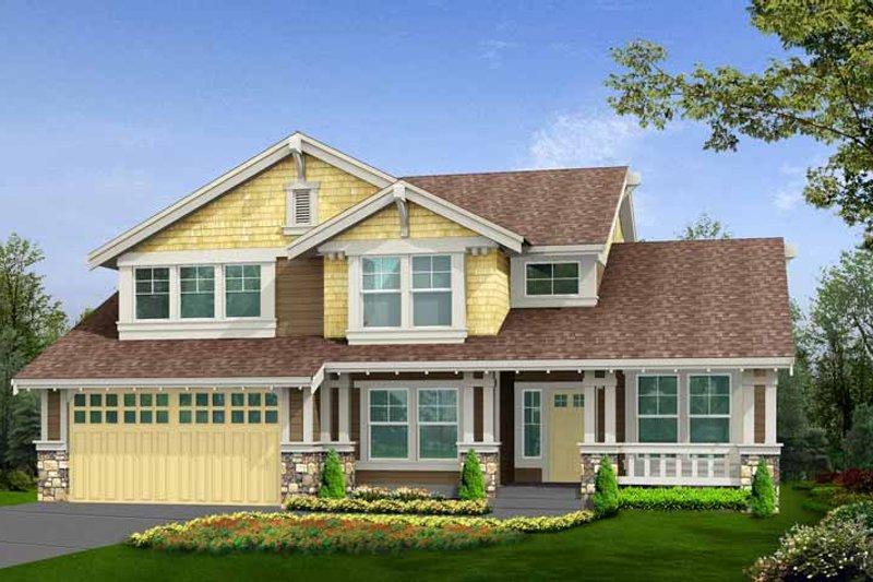 Craftsman Exterior - Front Elevation Plan #132-356 - Houseplans.com