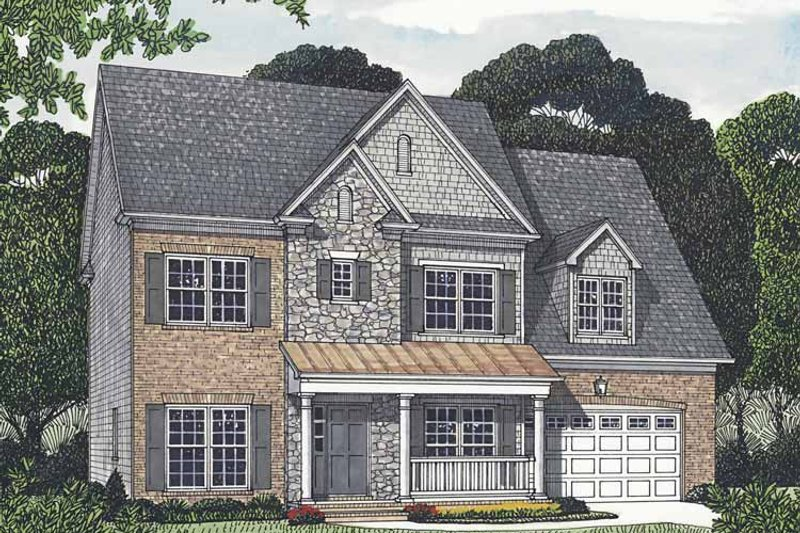 Traditional Exterior - Front Elevation Plan #453-551 - Houseplans.com