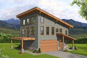 Modern Exterior - Front Elevation Plan #932-422