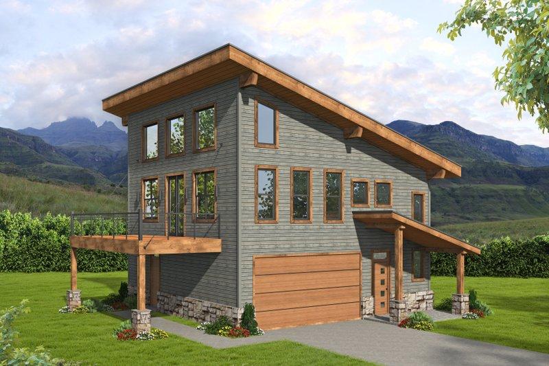 Dream House Plan - Modern Exterior - Front Elevation Plan #932-422