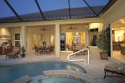 Mediterranean Style House Plan - 4 Beds 3.5 Baths 3433 Sq/Ft Plan #930-322 Exterior - Rear Elevation