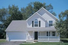 Architectural House Design - Traditional Exterior - Front Elevation Plan #20-2216