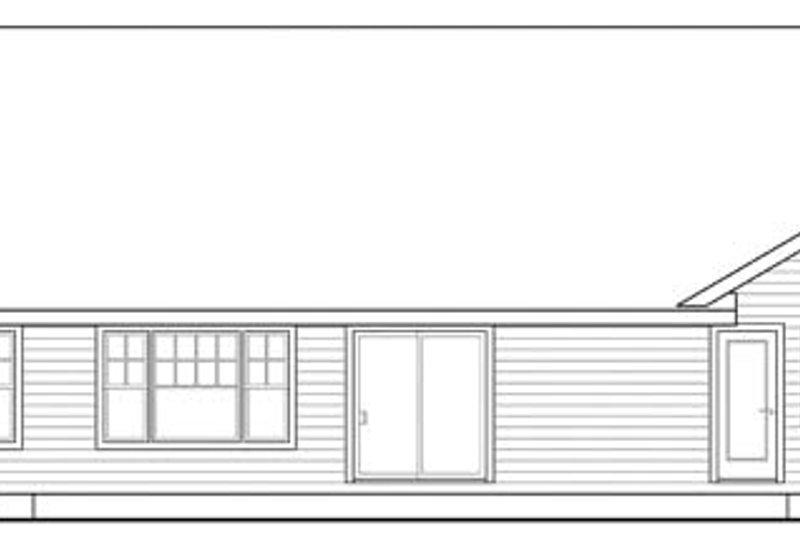 Ranch Exterior - Rear Elevation Plan #124-862 - Houseplans.com
