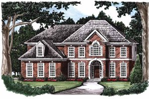 Architectural House Design - Colonial Exterior - Front Elevation Plan #927-223