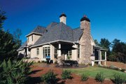 European Style House Plan - 4 Beds 4.5 Baths 4012 Sq/Ft Plan #437-66 Exterior - Rear Elevation