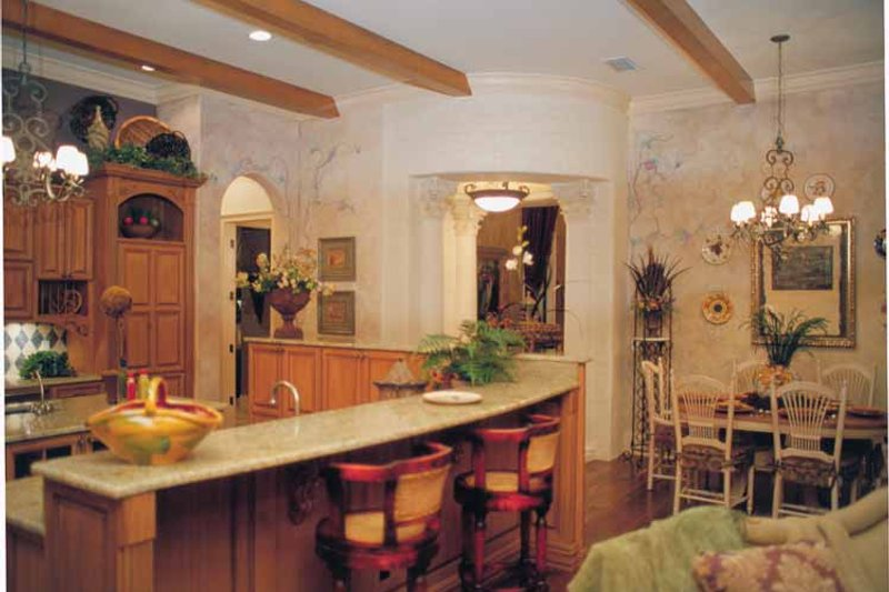 Mediterranean Interior - Kitchen Plan #417-527 - Houseplans.com