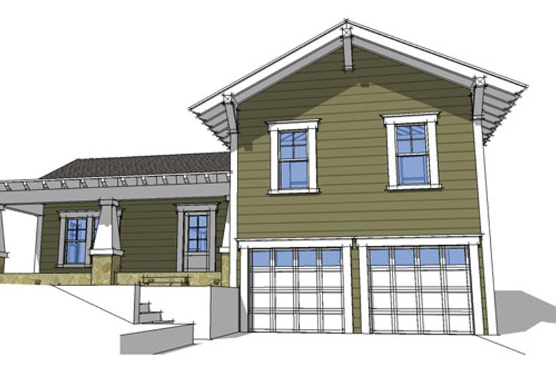 Craftsman Exterior - Front Elevation Plan #64-303 - Houseplans.com