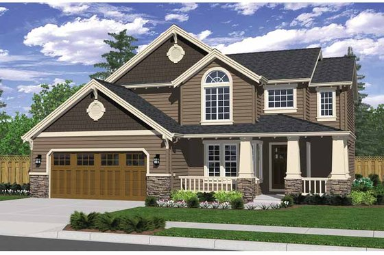 Craftsman Exterior - Front Elevation Plan #943-23