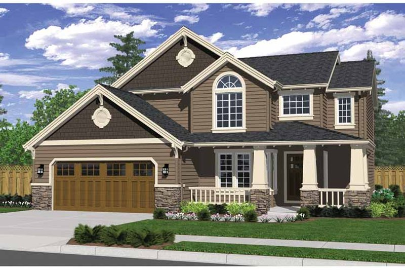 House Design - Craftsman Exterior - Front Elevation Plan #943-23