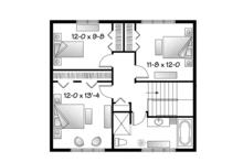 Traditional Floor Plan - Upper Floor Plan Plan #23-2508