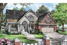 Country Exterior - Front Elevation Plan #929-888
