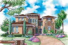 House Plan Design - Mediterranean Exterior - Front Elevation Plan #930-313