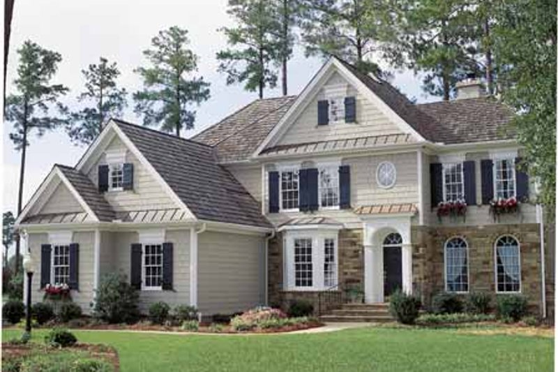 Colonial Exterior - Front Elevation Plan #429-69 - Houseplans.com