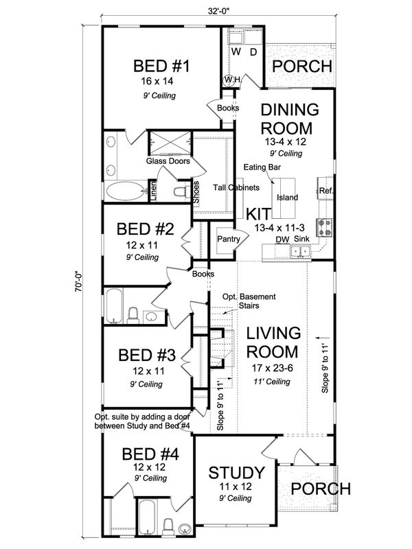 Cottage Floor Plan - Main Floor Plan Plan #513-2179