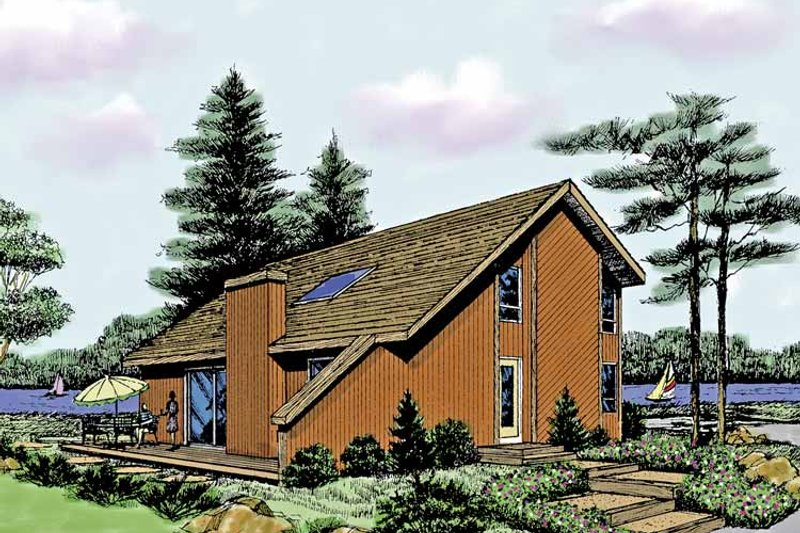 Home Plan - Contemporary Exterior - Front Elevation Plan #314-260