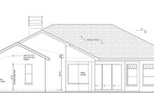 Mediterranean Exterior - Rear Elevation Plan #1058-46