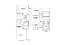 Mediterranean Floor Plan - Main Floor Plan Plan #417-806