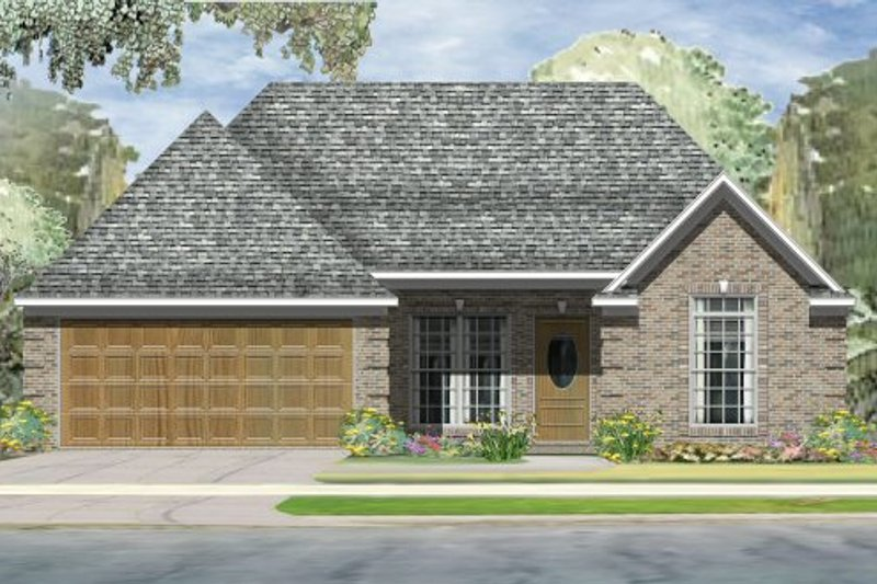 Traditional Style House Plan - 3 Beds 2 Baths 1335 Sq/Ft Plan #424-274 Exterior - Front Elevation