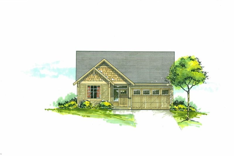 Cottage Exterior - Front Elevation Plan #53-623