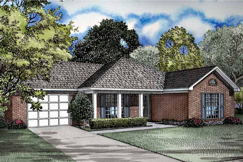 Ranch Exterior - Front Elevation Plan #17-2968 - Houseplans.com