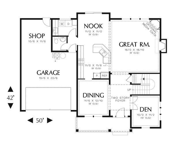 Traditional Floor Plan - Main Floor Plan Plan #48-538