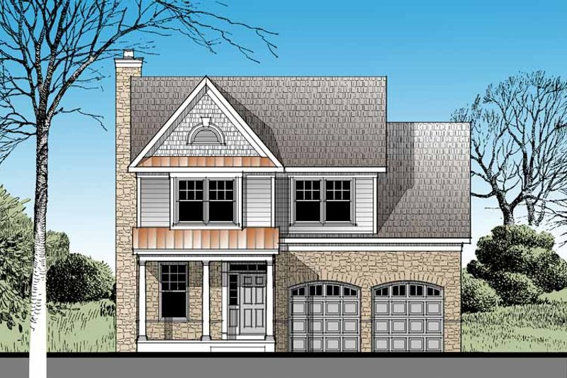 Architectural House Design - Traditional Exterior - Front Elevation Plan #1029-57