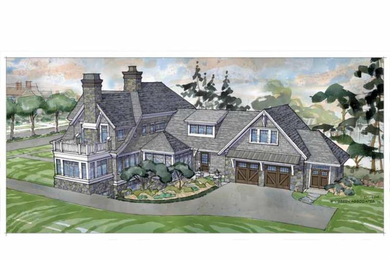 Craftsman Exterior - Rear Elevation Plan #928-239 - Houseplans.com