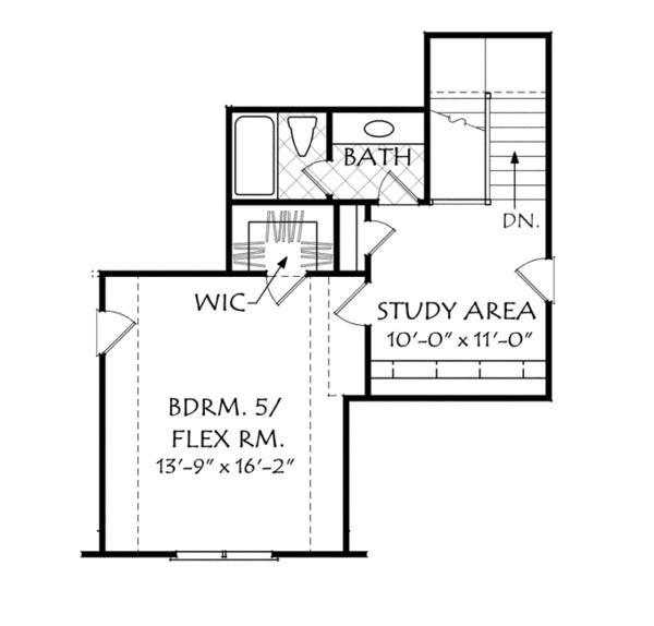 European Floor Plan - Upper Floor Plan Plan #927-961